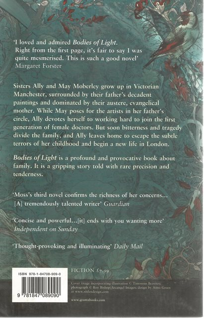 Back cover of Bodies of Light by Sarah Mosse