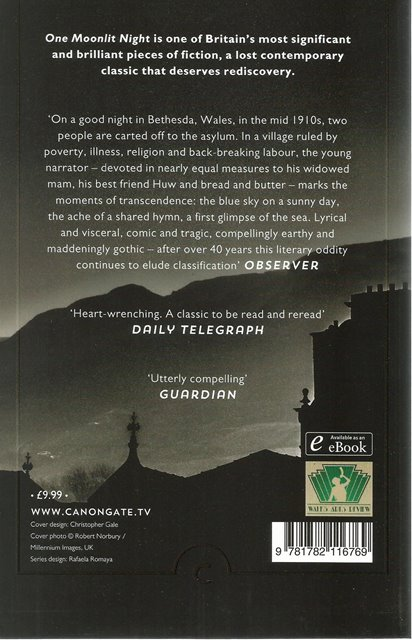 Back cover of One Moonlit Night by Caradog Prichard