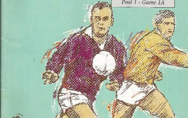 Front cover of 1991 World Cup Rugby programme: England vs New Zealand