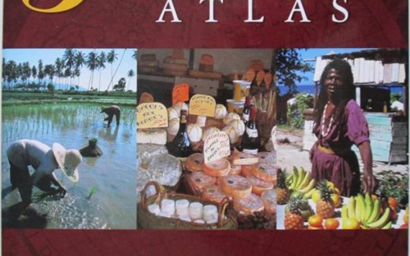 Front cover of The Gourmet Atlas by Susie Ward, Claire Clifton and Jenny Stacey