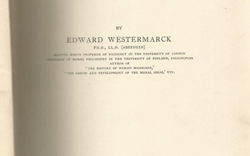 Title page of Marriage Ceremonies in Morocco by Edward Westermarck