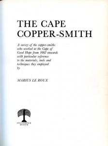 Title page of The Cape Copper-smith by Marius le Roux