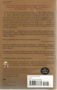 Back Cover of The Billionaire's Vinegar by Benjamin Wallace
