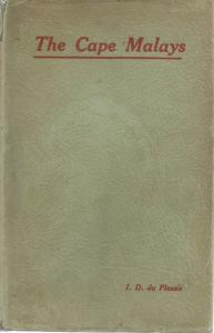Front Cover of The Cape Malays by I D du Plessis