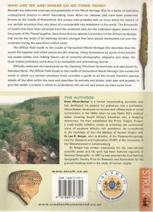 Back Cover of The Official Field Guide to the Cradle of Humankind by Brett Hilton-Barber and Lee Berger