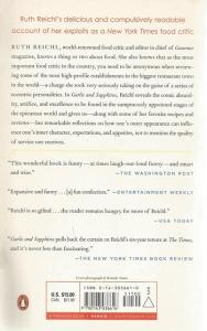 Back Cover of Garlic and Sapphires by Ruth Reichl