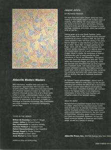 Back cover of Jasper Johns by Richard Francis