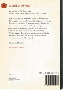 Back cover of Movements in Art Since 1945 by Edward Lucie-Smith