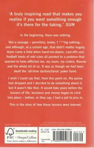 Back cover of Playing With Fire by Gordon Ramsay
