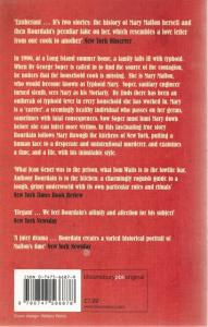 Back cover of Typhoid Mary by Anthony Bourdain