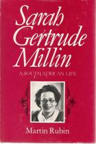 Front cover of Sarah Gertrude Millin by Martin Rubin