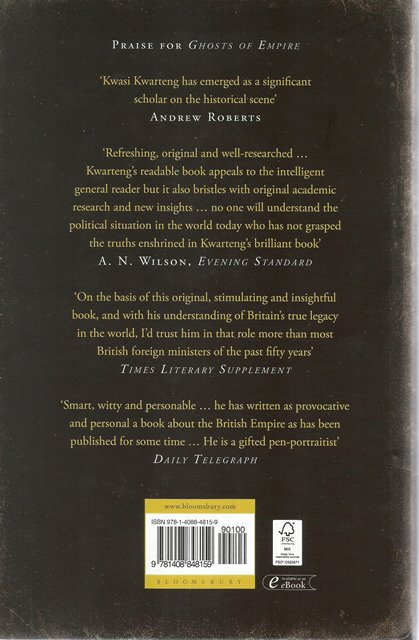 Back cover of War and Gold by Kwasi Kwarteng